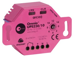 Flush mounted switch actuator 1-channel UPS230/10 13A free potential output and binary input entry